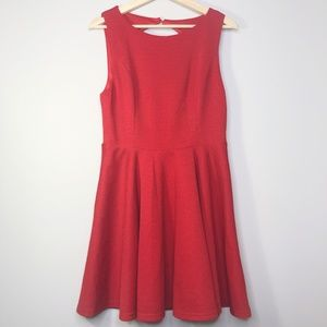 Lulu's Red Open Back Flit and Flare Dress Size -XL